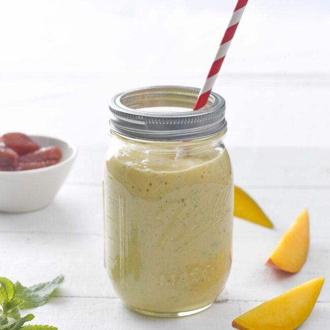 smoothie mango peer munt
